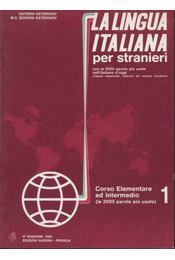 La Lingua Italiana per stranieri I-II. - Régikönyvek