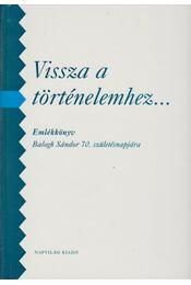 Vissza a történelemhez... - Izsák Lajos, Stemler Gyula - Régikönyvek