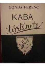 Kaba története - Régikönyvek
