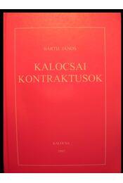 Kalocsai kontraktusok - Régikönyvek