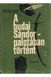 A Budai Sándor-palotában történt 1919-1941 - Karsai Elek - Régikönyvek