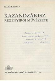 Kazandzákisz regényírói művészete - Régikönyvek