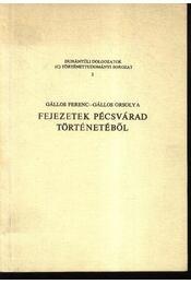 Fejezetek Pécsvárad történetéből - Régikönyvek