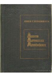 Modern matematika mérnököknek - Régikönyvek