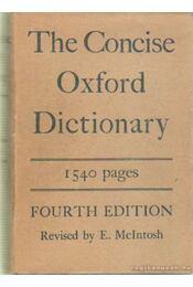 The Concise Oxford Dictionary - F. G. Fowler, H. W. Fowler - Régikönyvek