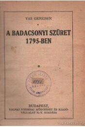 A badacsonyi szüret 1795-ben - Régikönyvek