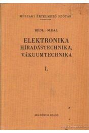 Elektronika, Híradástechnika, Vákuumtechnika I. - Rédl Endre, Oldal Endre - Régikönyvek