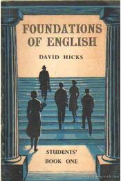Foundations of English for foreign students - Régikönyvek