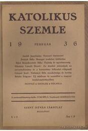 Katolikus szemle 1936. (töredék) - Régikönyvek