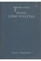 Olasz leíró nyelvtan - Régikönyvek