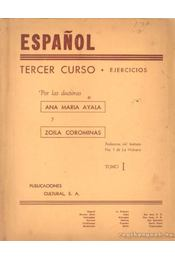Espanol Tercer Curso - Ejercicios Tomo I - Régikönyvek
