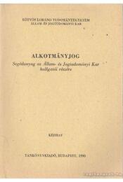 Alkotmányjog - Kukorelli István - Régikönyvek