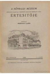 A néprajzi Múzeum értesítője 1938/2-4. szám - Bartucz Lajos - Régikönyvek