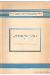 Anyagtechnológia II. - Régikönyvek