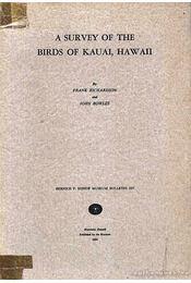 A Survey of the Birds of Kauai, Hawaii - Régikönyvek