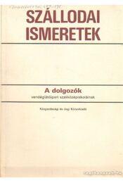 Szállodai ismeretek - Régikönyvek
