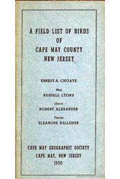 A Field List of Birds of Cape May County, New Jersey - Régikönyvek