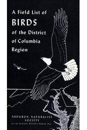 A Field List of Birds of the District of Columbia Region - Régikönyvek