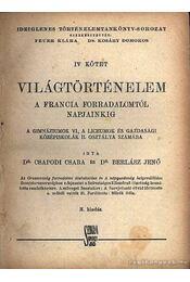 Világtörténelem IV. kötet - Régikönyvek