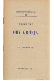 Ory grófja - Rossini - Régikönyvek