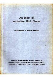 An Index of Australian Bird Names (Ausztrál madárnevek gyűjteménye) - Régikönyvek