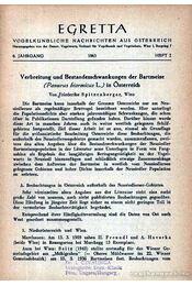 Egretta Vogelkunde Nachrichten aus Österreich 6. 2. 1963 (Egretta Ausztriai madártani hírek 6. évf. 2. sz. 1963) - Régikönyvek