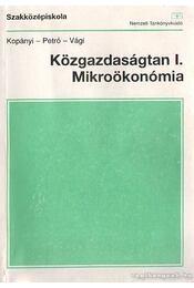Közgazdaságtan I. Mikroökonómia - Régikönyvek