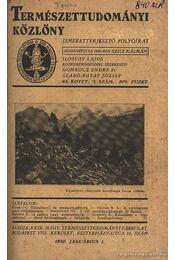 Természettudomány 1930 - Régikönyvek