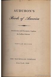 Aubudon's Birds of America - Régikönyvek
