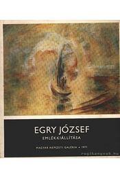 Egry József emlékkiállítása 1971 - Egry József - Régikönyvek