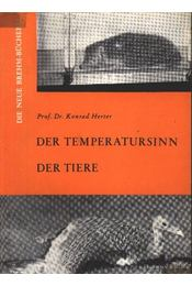 Der Temperatursinn der Tiere - Régikönyvek
