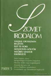 Szovjet irodalom 1989/5 - Régikönyvek