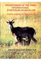 Proceedings of the Third International Symposium on Mouflon (A 3. nemzetközi Muflon Konferencia eseményei) - Régikönyvek