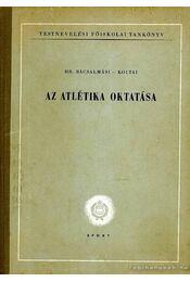 Az atlétika oktatása - Régikönyvek