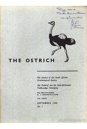The Ostrich Vol. XXXVII. No.3. 1966 (A strucc 37 évf. 3. szám 1966) - Régikönyvek