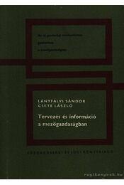 Tervezés és információ a mezőgazdaságban - Régikönyvek