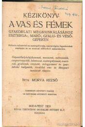 Kézikönyv a vas és fémek gyakorlati megmunkálásához Eszterga-Markó-Gyalu-és vésőgépeken - Régikönyvek