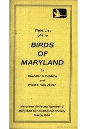 Field list of the Birds of Maryland (Maryland madarainak listája) - Régikönyvek