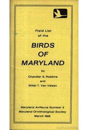 Field list of the Birds of Maryland (Maryland madarainak listája) - Régikönyvek