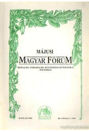 Májusi Magyar fórum 1995. III. évf. 5. szám - Régikönyvek