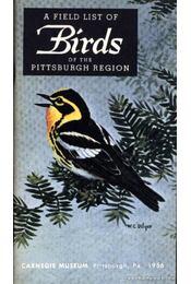 A Field List of the Birds of the Pittsburgh Region - Régikönyvek