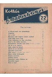 Kottás dalosköny 22. szám - Régikönyvek