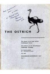 The Ostrich Vol. XXXV. No. 4. 1964 (A strucc 35. évf. 4. szám 1964) - Régikönyvek