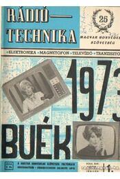 Rádiótechnika 1973. évfolyam (teljes) - Régikönyvek