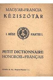 Magyar-francia kéziszótár - Régikönyvek