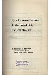 Type Specimens of Birds In the United States National Museum - Régikönyvek