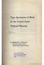 Type Specimens of Birds In the United States National Museum - Régikönyvek