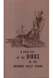 A Field List of the Birds of the Delaware Valley Region - Régikönyvek