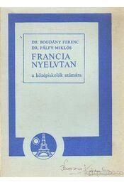 Francia nyelvtan a középiskolák számára - Régikönyvek