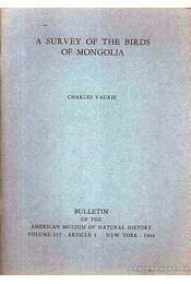 A Survey of the Birds of Mongolia - Régikönyvek